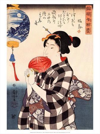 Woman with Fan, c 1800's