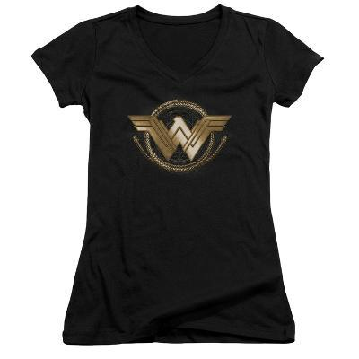 Juniors: Wonder Woman Movie - Lasso Logo V-Neck