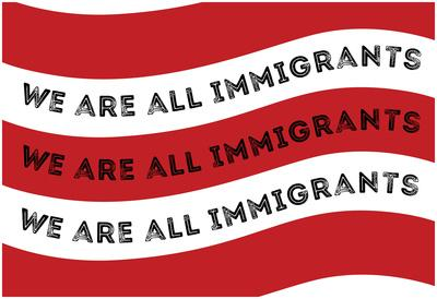 We Are All Immigrants Flag