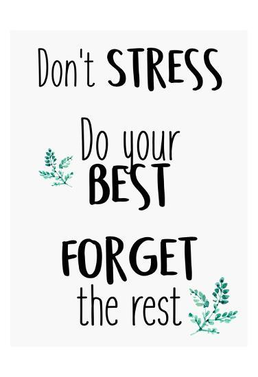 Dont Stress Prints by Kimberly Allen at AllPosters.com