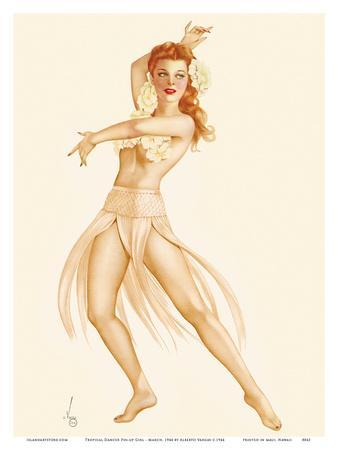 Tropical Dancer Pin-up Girl - March, 1944