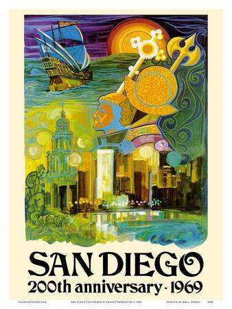 San Diego California - 200th Anniversary 1969