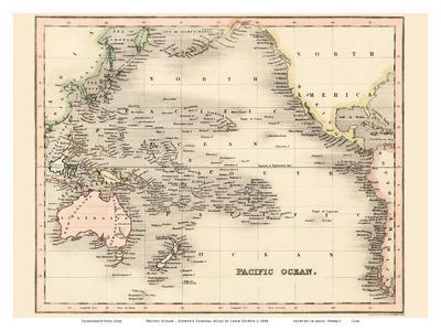 Pacific Ocean - Dower's General Atlas of the Earth
