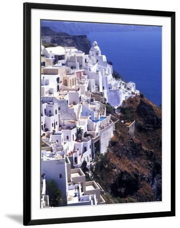 White Buildings in Oia Santorini, Athens, Greece