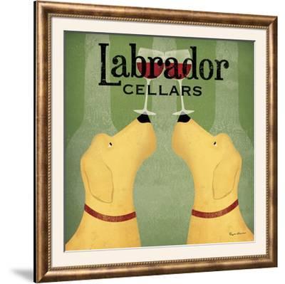 Two Labrador Wine Dogs Square