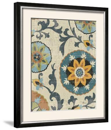 Persian Patchwork Blue Brown Tile I