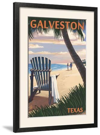 Galveston, Texas - Adirondack Chairs and Sunset