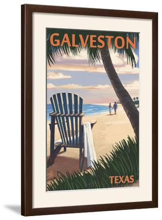 Galveston, Texas - Adirondack Chairs and Sunset