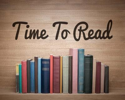 Time To Read - Wood Background Color