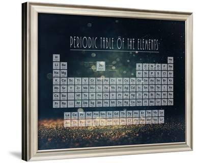 periodic table gold dust blue poster by color me happy at allposterscom