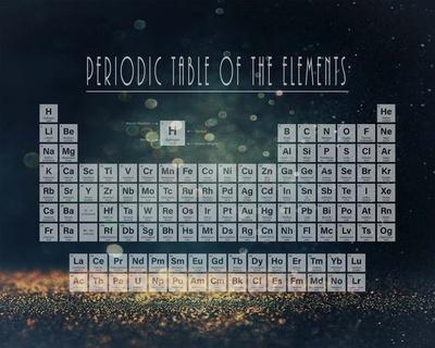 Periodic Table Gold Dust - Blue