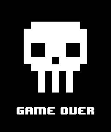 Game Over - White Skull