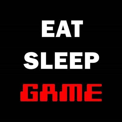 Eat Sleep Game - Black