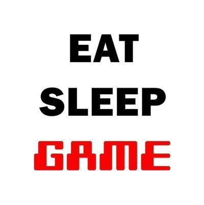 Eat Sleep Game - White