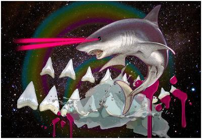 Majestic Laser Shark In Space