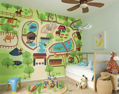 Zoo Time Wall Mural