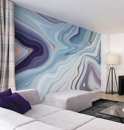 Marbled Ink Wall Mural