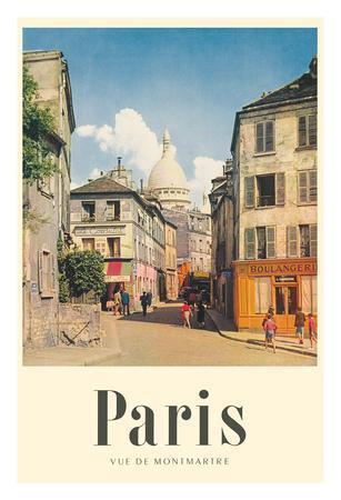 Paris, France - View of Montmartre - Basilica of the Sacred Heart (Sacre-Cœur)