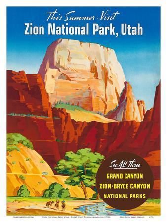 Zion National Park, Utah - Great White Throne Monolith