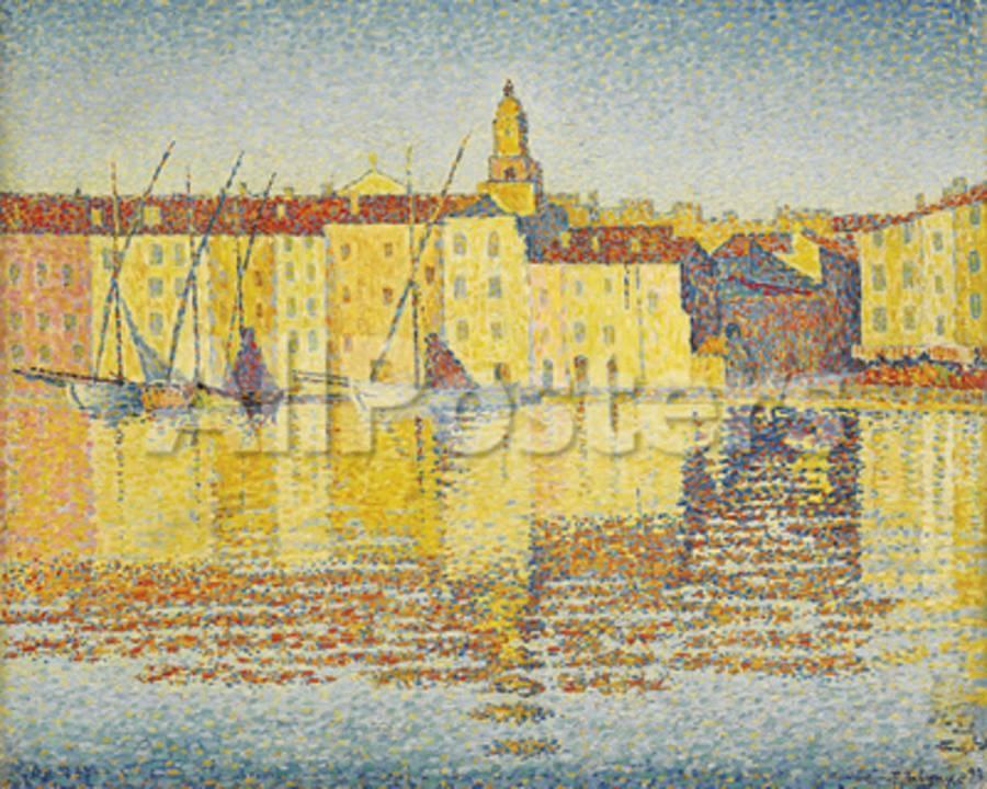 Maisons Du Port Saint Tropez Giclee Print By Paul Signac At