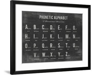 Phonetic Alphabet Stretched Canvas Print The Vintage Collection Allposters Com