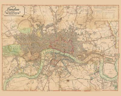 Map of London, 1813