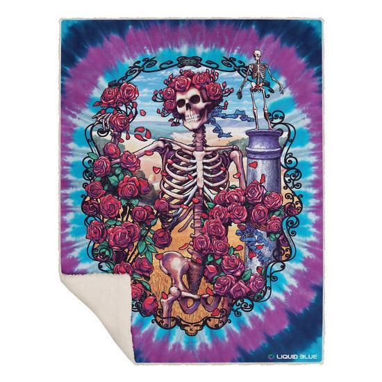 Grateful Dead 40th Anniversary Blanket Fleece Blanket At Inspiration Grateful Dead Throw Blanket