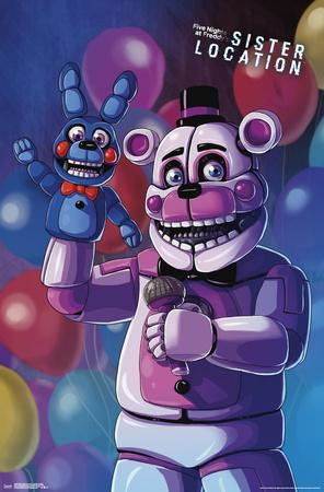 Fnaf Sister Location Funtime Freddy Poster At