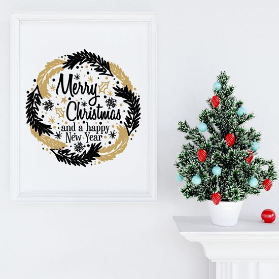 Christmas Garland Black And Gold