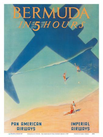 Bermuda in 5 Hours - Pan American Airways - Imperial Airways