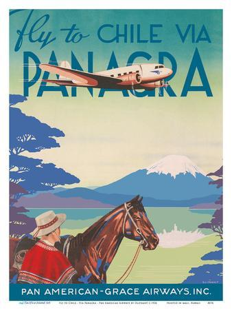 Fly to Chile - Via Panagra - Pan American-Grace Airways
