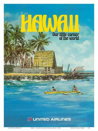 Hawaii - United Airlines - City of Refuge, Honaunau Bay