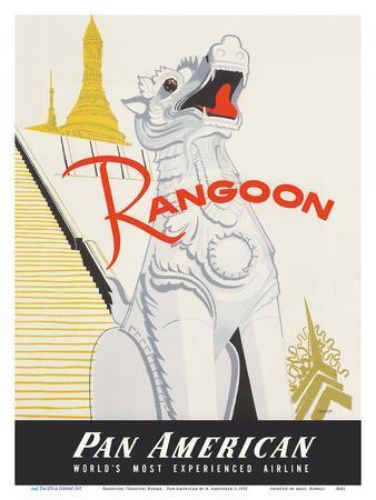Rangoon (Yangon) Burma - Pan American World Airways - Shwedagon Pagoda