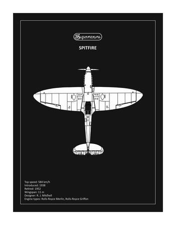 BP Supermarine Spitfire Black