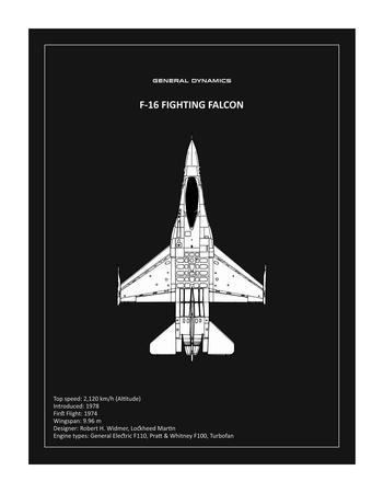 BP F-16 Fighting Falcon Black