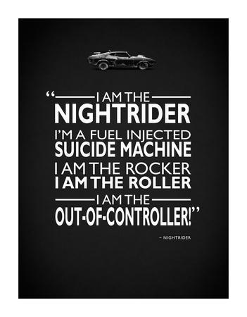 Mad Max I Am The Nightrider