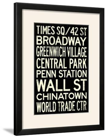 New York City Subway Style Vintage Travel Poster