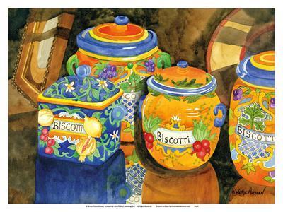 Biscotti Jars - Tuscany Italy - Italian Almond Cookies
