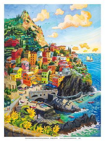 Manarola, Italy - Cinque Terre Coastal Town - Italian Riviera