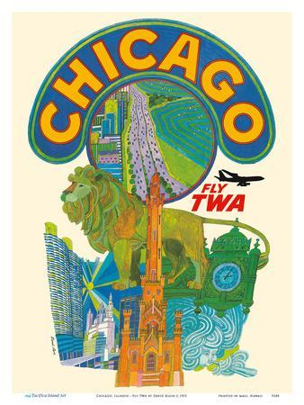 Chicago, Illinois - Fly TWA (Trans World Airlines)