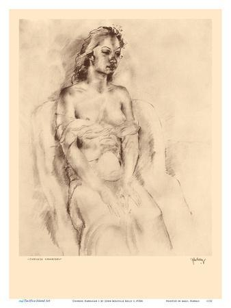 Chinese Hawaiian 1 - Nude Study - from Etchings and Drawings of Hawaiians