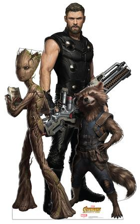 Avengers: Infinity War - Groot, Thor and Rocket Racoon