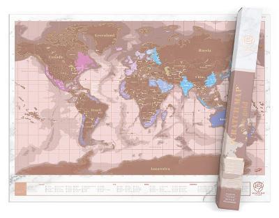 Scratch Map Rose Gold