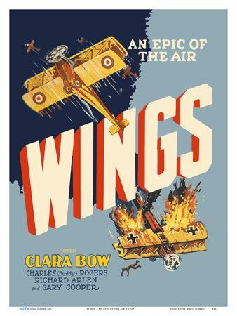 Wings - An Epic of the Air - Starring Clara Bow and Gary Cooper