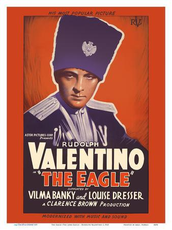 The Eagle (The Lone Eagle) - Starring Rudolph Valentino, Vilma Banky and Louise Dresser