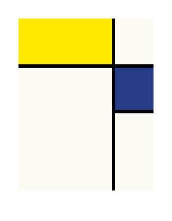 Composition avec bleu et jaune, 1932