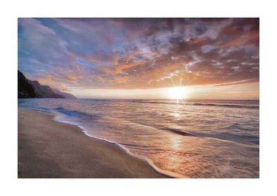 Kee Beach Sunset