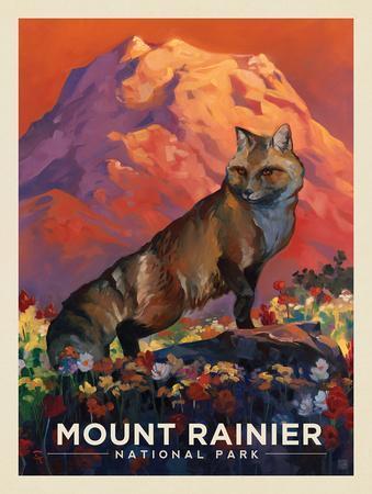 Mt. Rrainier National Park: Floral Fox