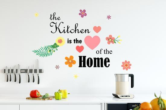 Kitchen Quote Kitchen is the Heart of the Home, Wall, Home decoration, DIY,  Quotes