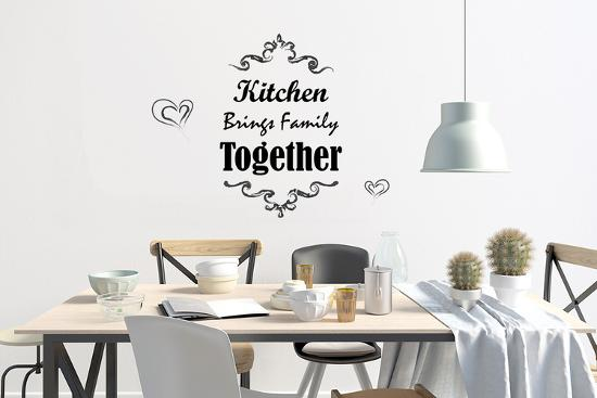 Kitchen Quote Kitchen Brings Family Together Wall Home Decoration
